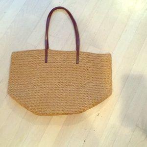 J Crew Weaved summer bag